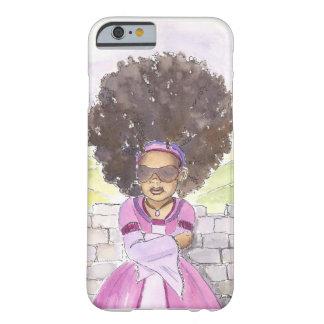 Caso moderno del iPhone 6 del Afro de Rapunzel Funda Para iPhone 6 Barely There