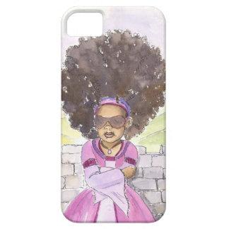 Caso moderno del iphone del Afro de Rapunzel iPhone 5 Carcasa