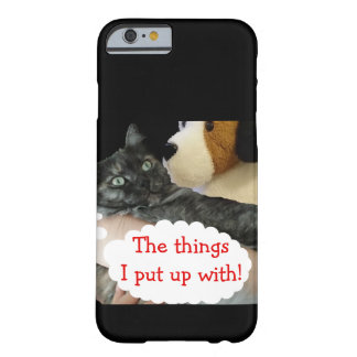 Caso móvil de encargo del gato relajado por funda para iPhone 6 barely there