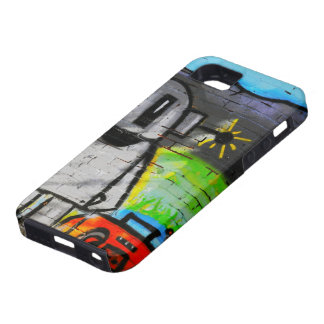 caso móvil de la música de la pintada del androide iPhone 5 carcasa