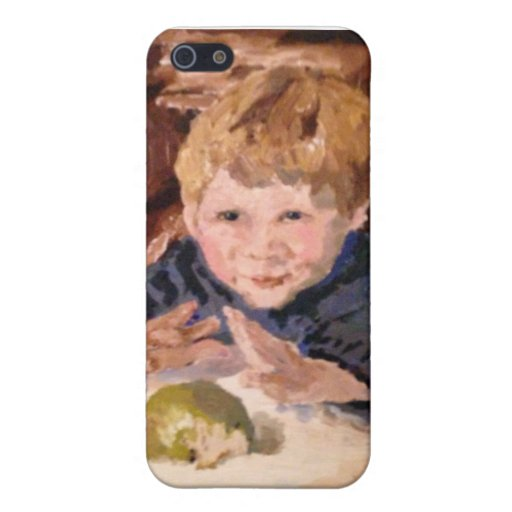 """Caso """"muchacho de IPhone 5 con Apple comido mitad  iPhone 5 Carcasa"""