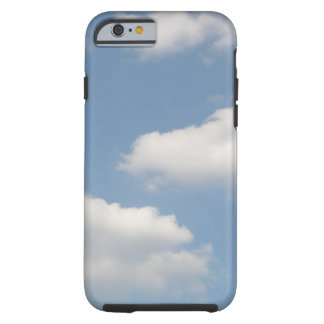 Caso mullido del iPhone 6 de las nubes de cúmulo Funda De iPhone 6 Tough