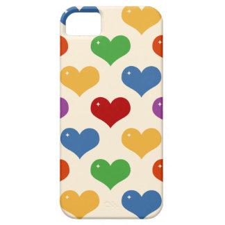 Caso multi del modelo de los corazones de la burbu iPhone 5 cobertura