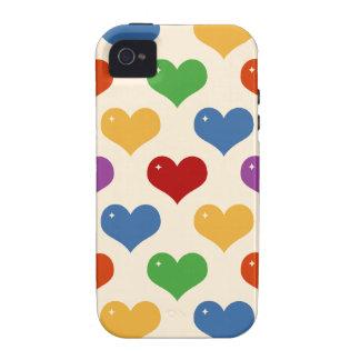 Caso multi del modelo de los corazones de la burbu iPhone 4 funda