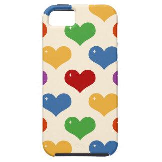 Caso multi del modelo de los corazones de la burbu iPhone 5 Case-Mate carcasa