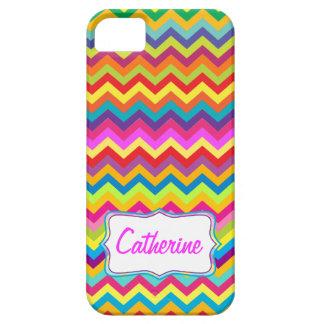 Caso multicolor del iphone del modelo de zigzag de funda para iPhone SE/5/5s