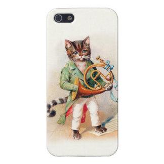 Caso musical adaptable del gato iphone5 del Victor iPhone 5 Cárcasas