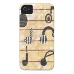 Caso musical de Barely There Iphone 4 del auricula Case-Mate iPhone 4 Funda
