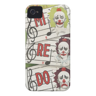 Caso musical de los payasos iPhone 4 Case-Mate protectores