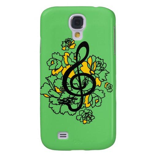 Caso musical de los peonies IPhone3 del clef agudo