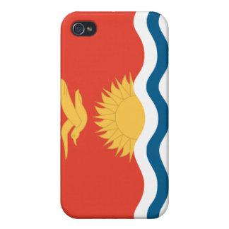 Caso nacional de Flage de la nación de Kiribati iPhone 4 Carcasas