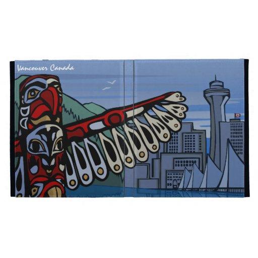 Caso nativo del iPad del arte de Vancouver del cas