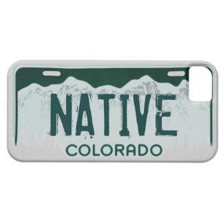 Caso nativo del iphone 5 de la placa de Colorado iPhone 5 Fundas