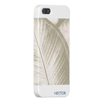 Caso natural 5 o 5s del iPhone de la hoja iPhone 5 Cárcasas