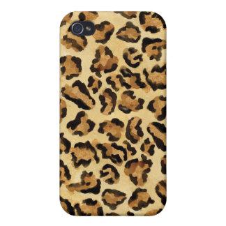 Caso natural de Iphone del estampado leopardo del iPhone 4 Fundas