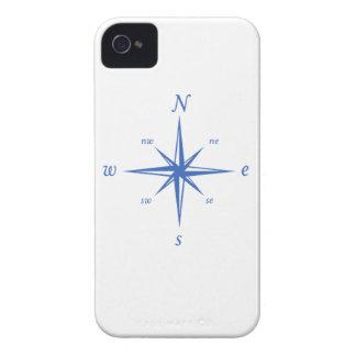 Caso náutico del iPhone del compás blanco marina iPhone 4 Protectores