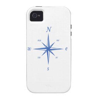 Caso náutico del iPhone del compás blanco marina iPhone 4 Fundas