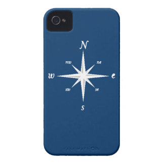 Caso náutico del iPhone del compás marina de guer iPhone 4 Case-Mate Carcasa