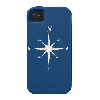 Caso náutico del iPhone del compás marina de guer Vibe iPhone 4 Fundas