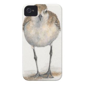 caso Negro-hinchado del iPhone del chorlito--Casam Case-Mate iPhone 4 Carcasas