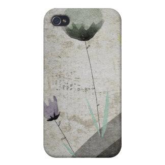 Caso neutral del ipad de las flores de papel del iPhone 4/4S fundas