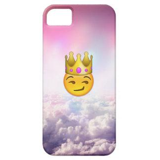 Caso nublado del iPhone de Emoji de la corona de Funda Para iPhone 5 Barely There