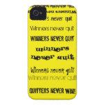 Caso nunca abandonado del iPhone 4 de los ganadore iPhone 4 Case-Mate Carcasa