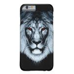 Caso observado rojo del iPhone 6 del león Funda De iPhone 6 Barely There