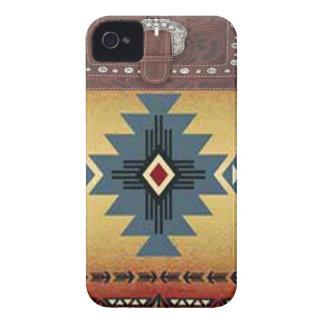 Caso occidental de IPhone 4 del nativo americano iPhone 4 Case-Mate Cobertura