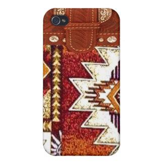 "Caso occidental de IPhone 4 del ""nativo americano"" iPhone 4 Carcasa"