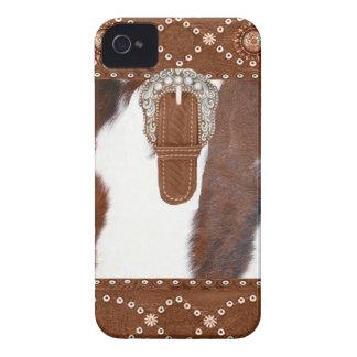 Caso occidental de IPhone 4 del zurriago y del Case-Mate iPhone 4 Fundas
