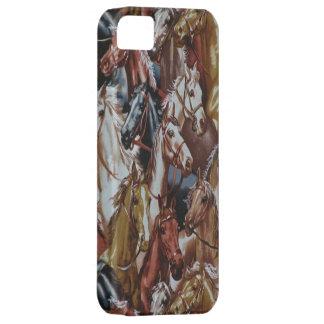 Caso occidental del iPhone 5 de los caballos del iPhone 5 Fundas