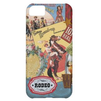caso occidental del iphone 5 del collage del vinta funda para iPhone 5C