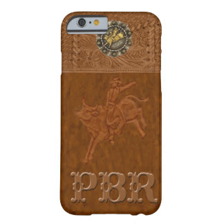 "Caso occidental del iPhone 6 del rodeo de ""PBR"" Funda Para iPhone 6 Barely There"