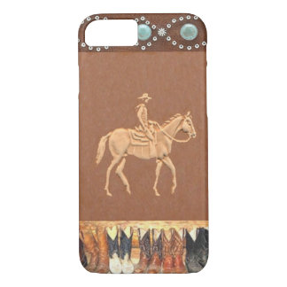 "Caso occidental del iPhone 7 del ""vaquero"" Funda iPhone 7"