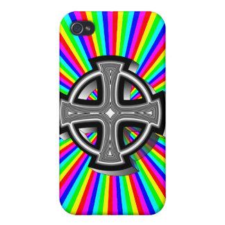 Caso óptico del iPhone 4/4S de la cruz céltica iPhone 4 Carcasas