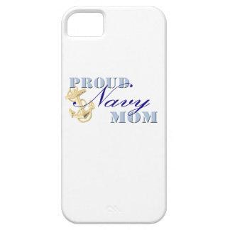Caso orgulloso de IPhone 5 de la mamá de la marina iPhone 5 Case-Mate Protectores