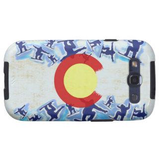 Caso orgulloso de Samsung S III del snowboarder de Samsung Galaxy S3 Funda
