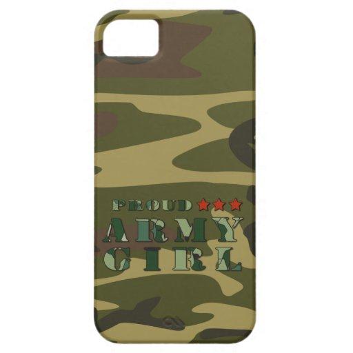 Caso orgulloso del iPhone 5 del chica del ejército iPhone 5 Carcasas