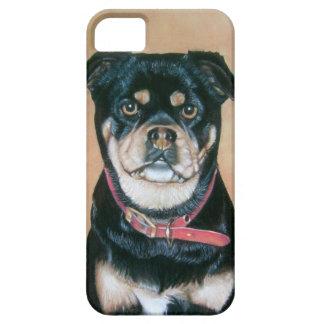 caso original del arte iphone5 del perro del barro iPhone 5 protector