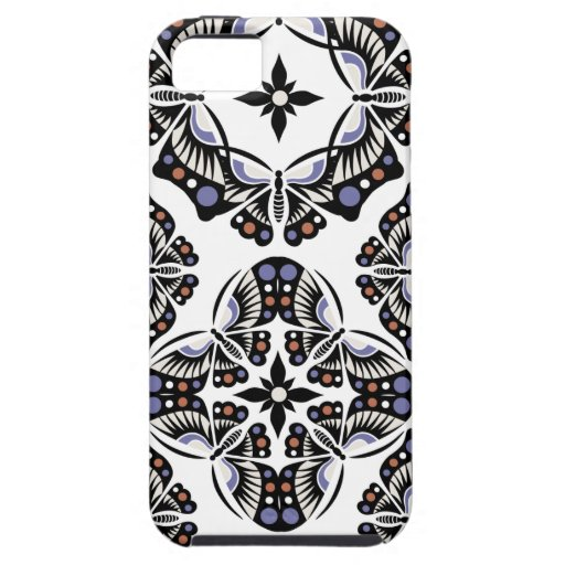 Caso ornamental del iphone 5 de la mariposa iPhone 5 Case-Mate funda