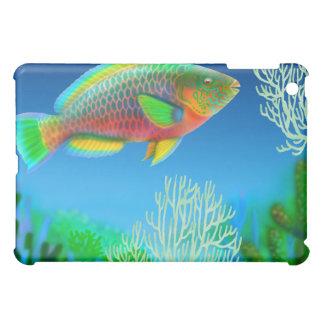 Caso pacífico del iPad del pez papagayo de Indo