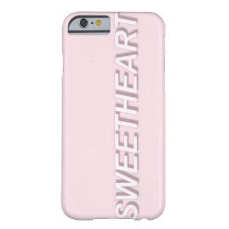 Caso pálido del iPhone 6 del amor Funda Barely There iPhone 6