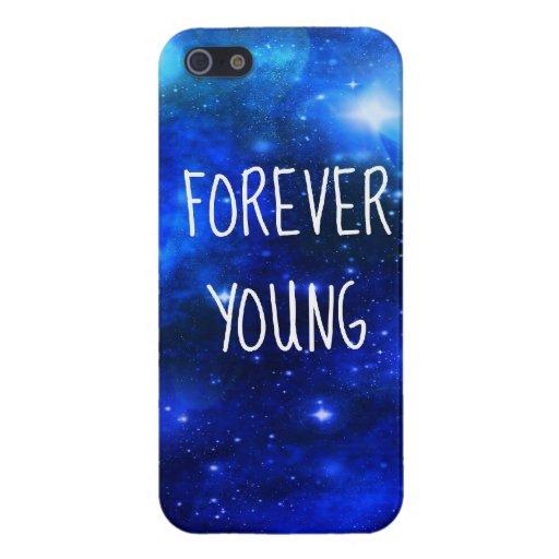 Caso para siempre joven de Iphone 5 de la galaxia  iPhone 5 Funda