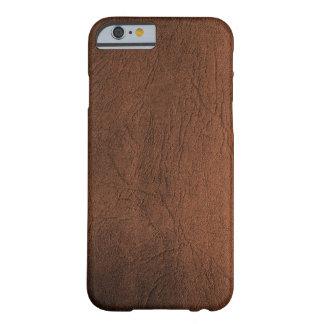 Caso parecido al cuero del iPhone 6 de Brown Funda De iPhone 6 Barely There