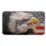Caso patriótico de iTouch de la imagen de Eagle iPod Case-Mate Funda