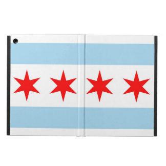Caso patriótico del ipad con la bandera de Chicago
