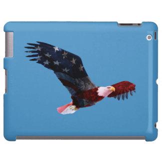 Caso patriótico del iPad de la bandera de Eagle ca Funda Para iPad