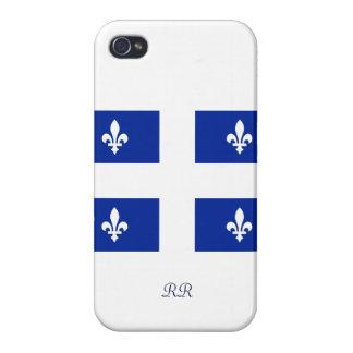 Caso patriótico del iPhone 4 de la bandera de Queb iPhone 4 Carcasas