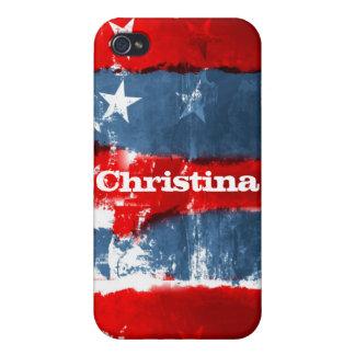 Caso patriótico del iPhone 4 de la pintada militar iPhone 4 Protector